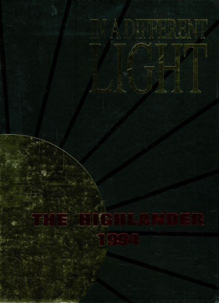 1994 Highland Park High School Yearbook Cover