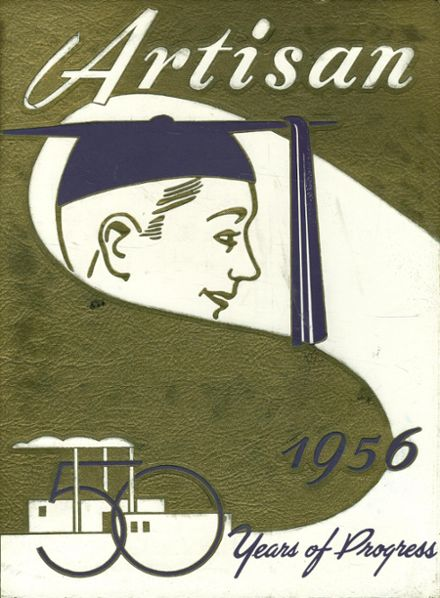 1956 Boys Trade & Tech High School Yearbook Cover