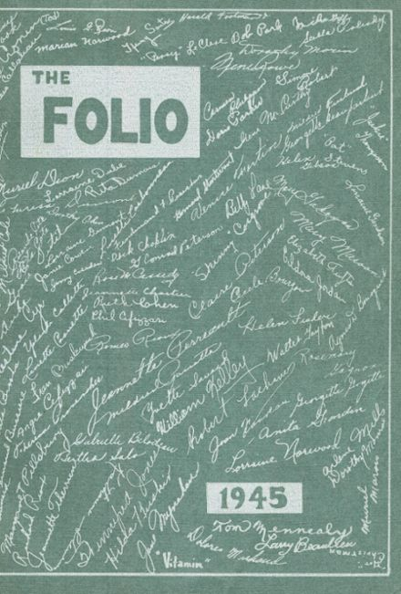 1945 Lewiston High School Yearbook Cover