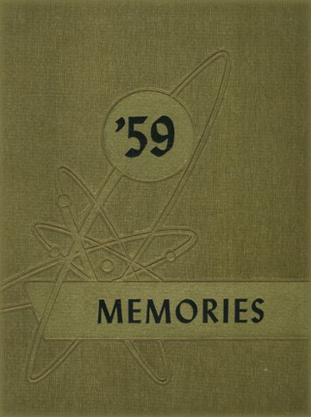 1959 Colonel White High School Yearbook Cover