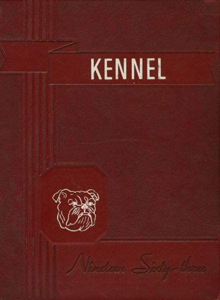 1963 Earle High School Yearbook Cover