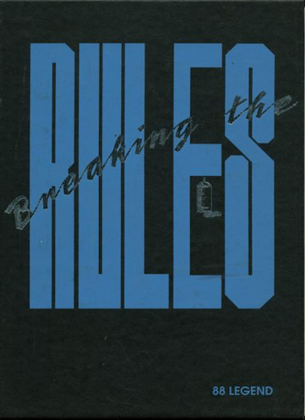 1988 East Noble High School Yearbook Cover