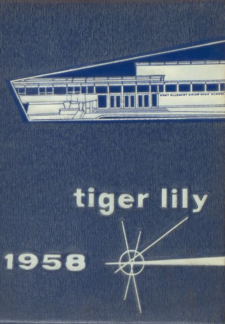 1958 Port Allegany High School Yearbook Cover