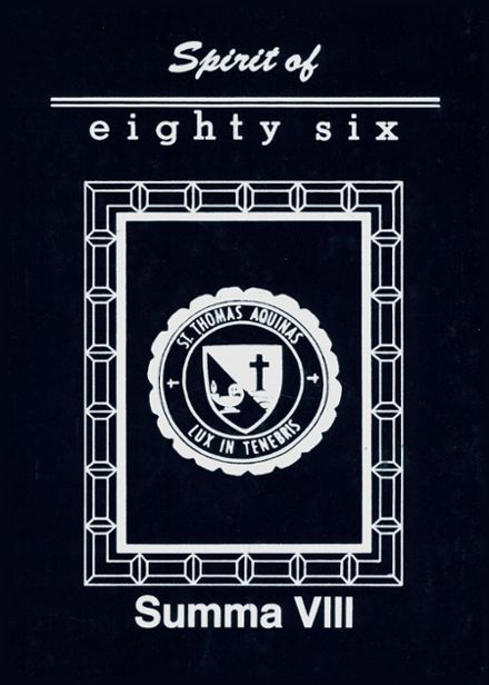 1986 St. Thomas Aquinas High School Yearbook Cover