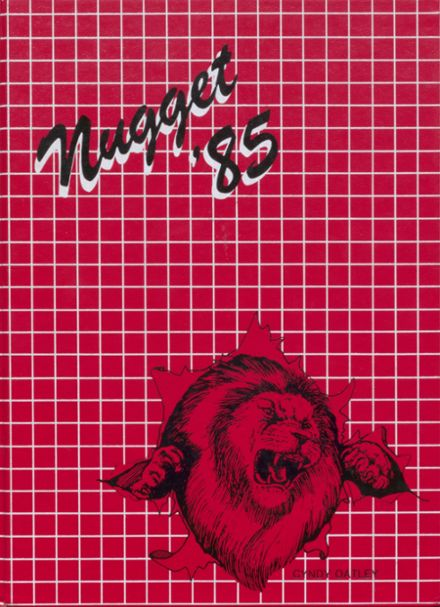1985 Etna Union High School Yearbook Cover