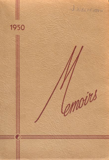 1950 St. Mary's High School Yearbook Cover