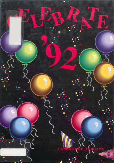 1992 Cambridge High School Yearbook Cover