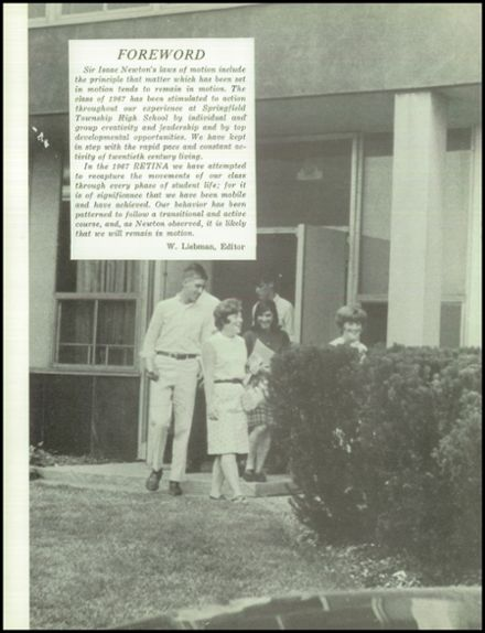 Explore 1967 Springfield Township (Montgomery County) High