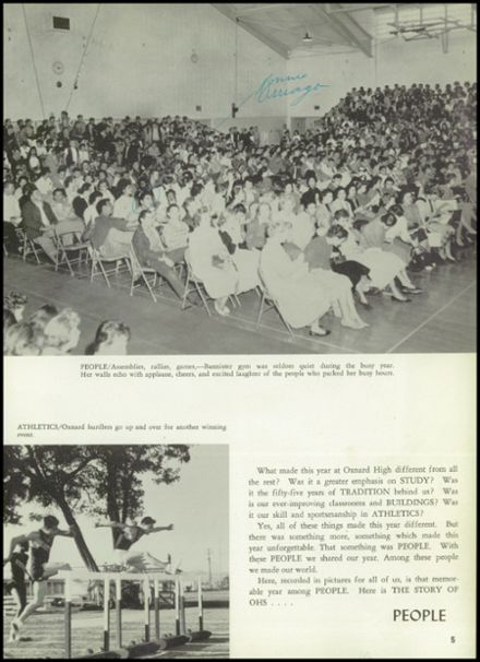 1960 Oxnard High School Yearbook Page 9