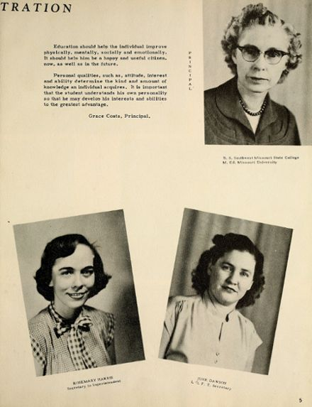1954 Houston High School Yearbook Page 9