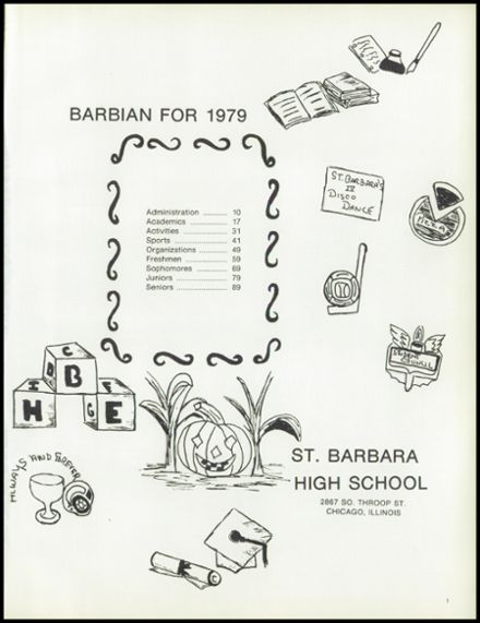 1979 St. Barbara High School Yearbook Page 5