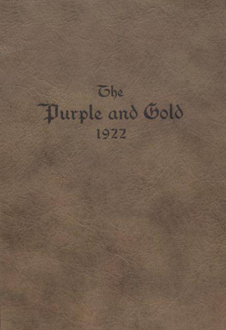 1922 Franklin-Simpson High School Yearbook Cover