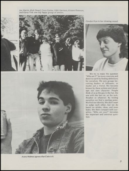 1986 Gig Harbor High School Yearbook Page 9