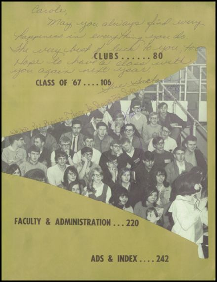 1967 West High School Yearbook Page 9
