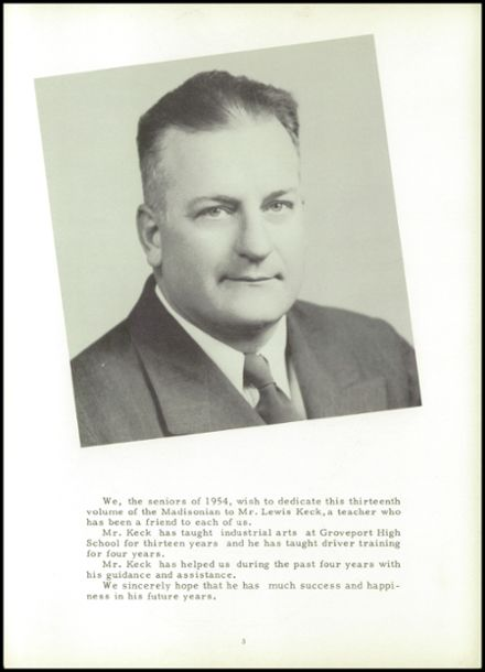 1954 Groveport Madison High School Yearbook Page 7