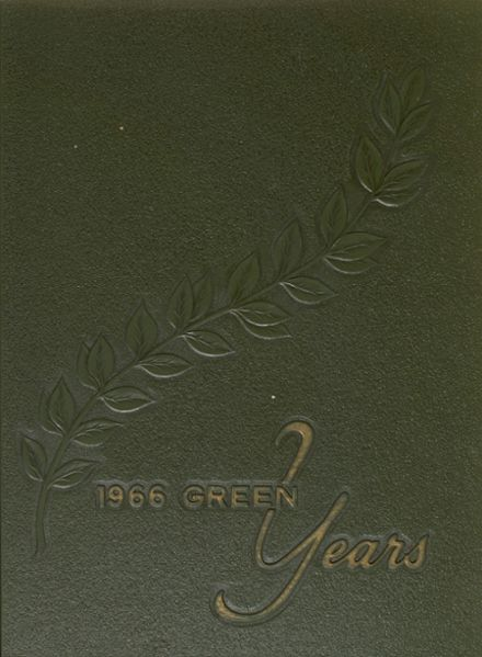 1966 De Paul High School Yearbook Cover