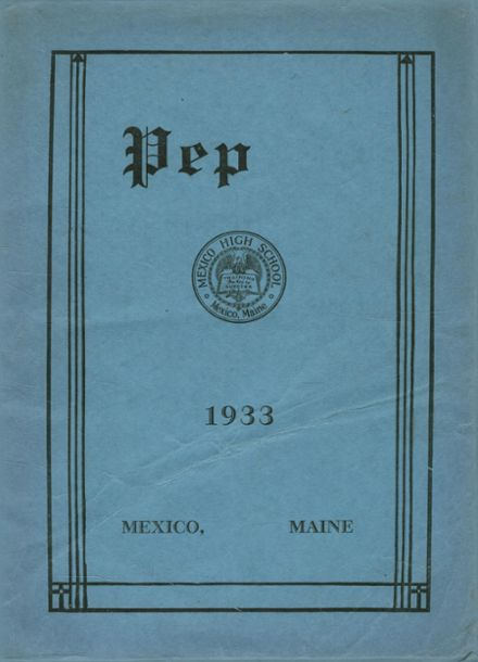 1933 Mexico High School Yearbook Cover