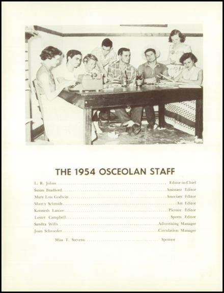 1955 Osceola High School Yearbook Page 6