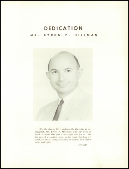1955 Osceola High School Yearbook Page 9