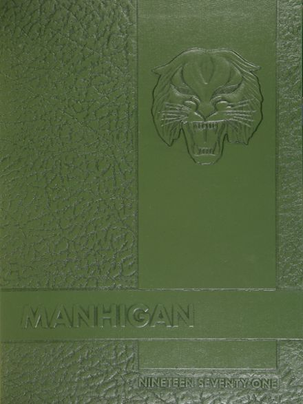 1971 Mansfield High School Yearbook Cover
