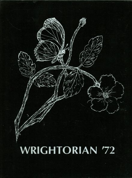 1972 Julius T. Wright School for Girls Yearbook Cover