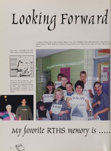 2000 Rochelle Township High School Yearbook Page 6