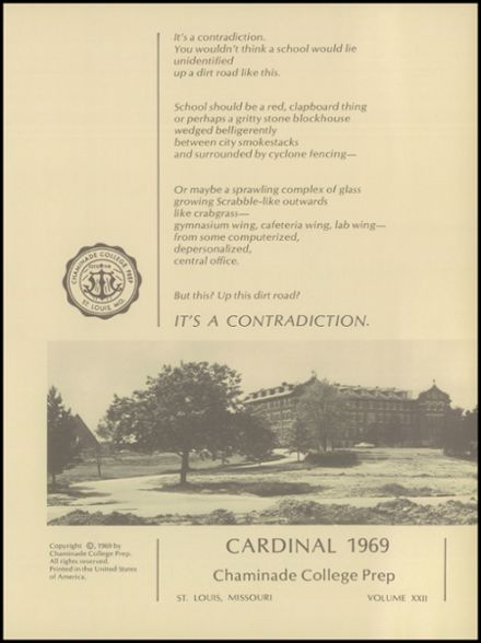 1969 Chaminade College Preparatory School Yearbook Page 5