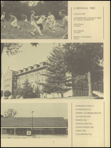 1969 Chaminade College Preparatory School Yearbook Page 7