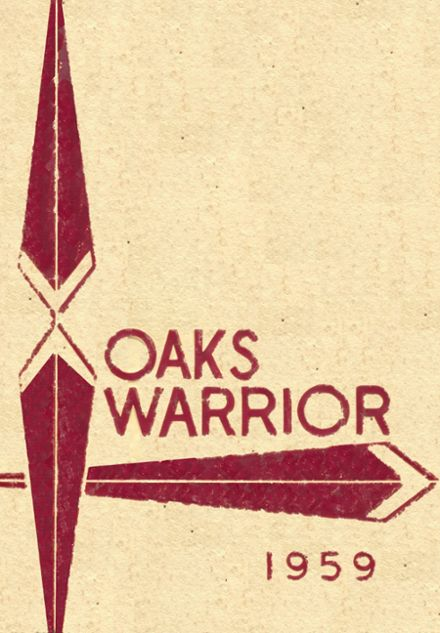 1959 Oaks-Mission High School Yearbook Cover