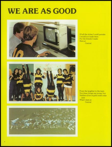 1984 Central High School Yearbook Page 8