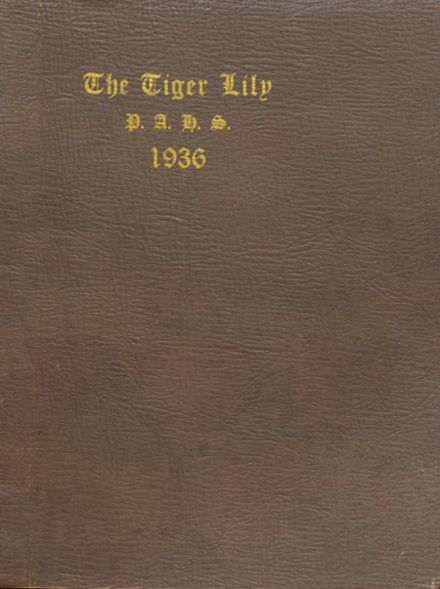 1936 Port Allegany High School Yearbook Cover