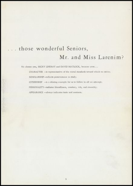 1962 Mineral Springs High School Yearbook Page 9