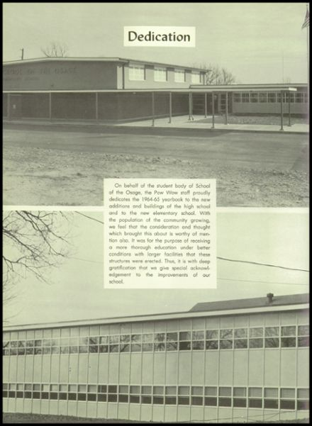 1965 School of the Osage Yearbook Page 8