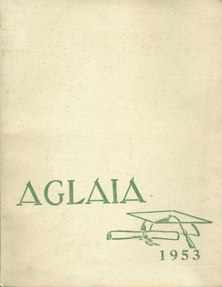 1953 Manchester High School Yearbook Cover