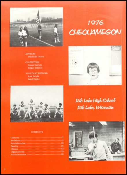 1976 Rib Lake High School Yearbook Page 6