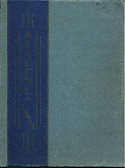 1935 Academy High School Yearbook Cover