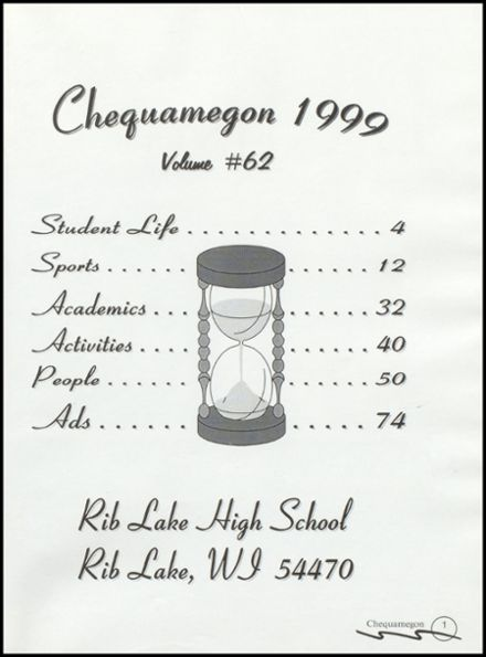 1999 Rib Lake High School Yearbook Page 5
