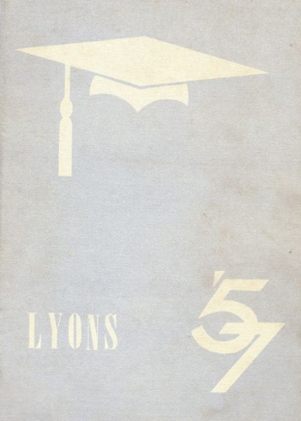 1957 Lyons-Muir High School Yearbook Cover