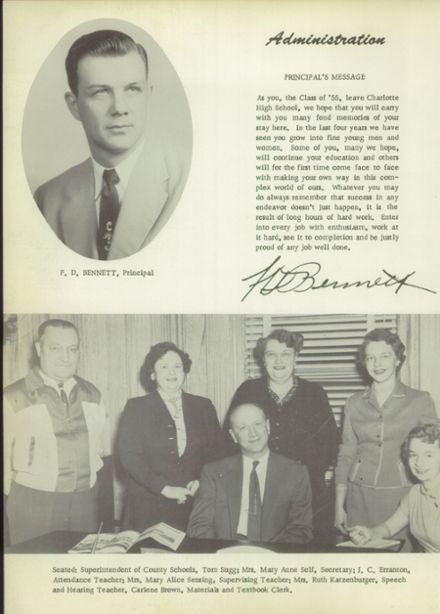 1955 Charlotte High School Yearbook Page 8