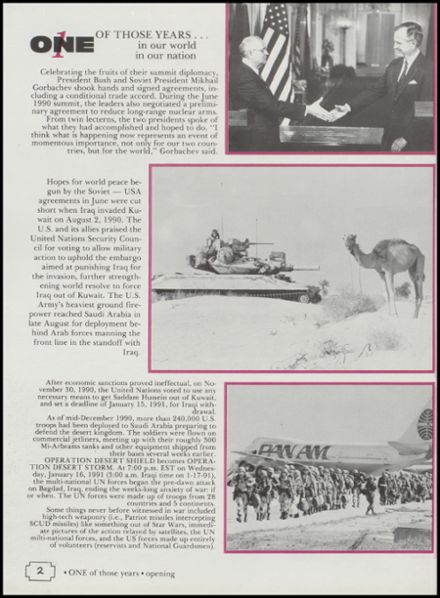 1991 Cushing High School Yearbook Page 6