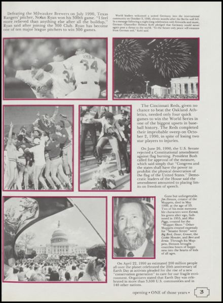 1991 Cushing High School Yearbook Page 7