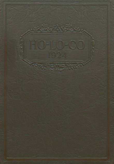 1924 Estherville High School Yearbook Cover