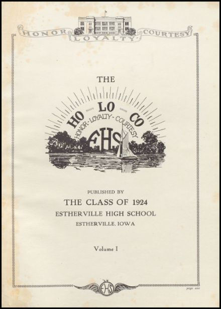 1924 Estherville High School Yearbook Page 7