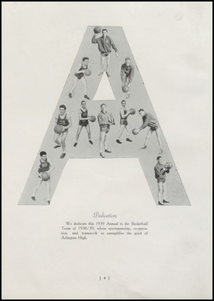 1939 Arlington High School Yearbook Page 8