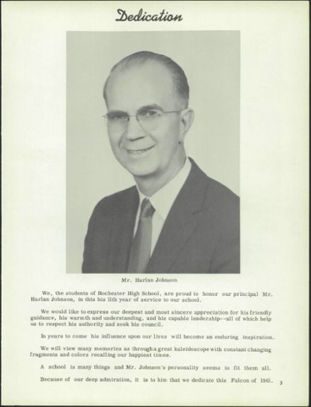 1961 Rochester High School Yearbook Page 7