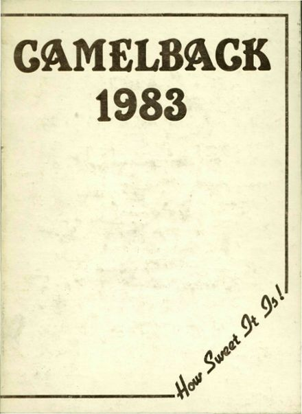 1983 Scottsdale High School Yearbook Cover