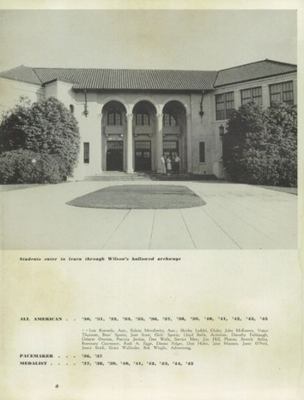 1947 Woodrow Wilson High School Yearbook Page 7