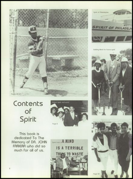1986 Thomas Edison High School Yearbook Page 6