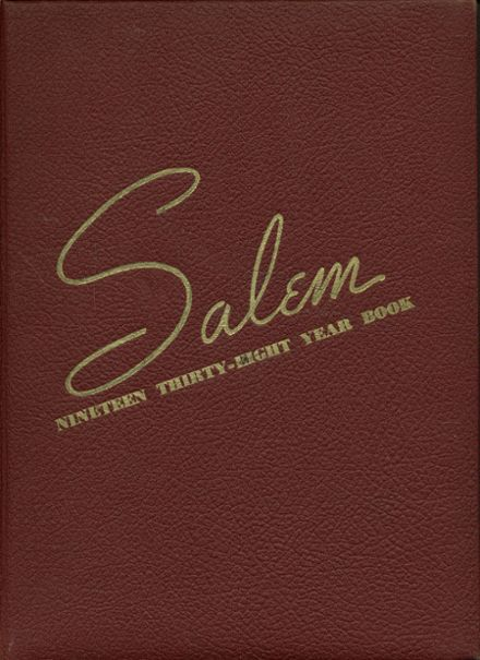 1938 Salem High School Yearbook Cover