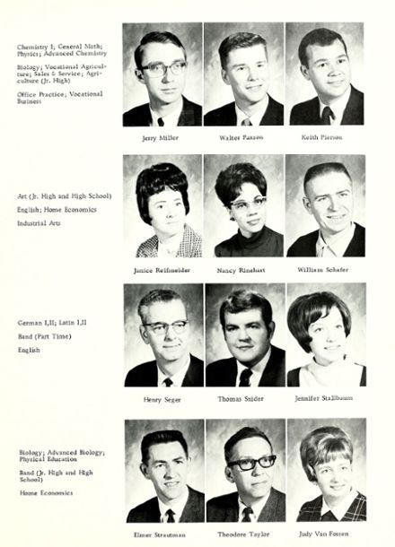1969 Woodlan High School Yearbook Page 9